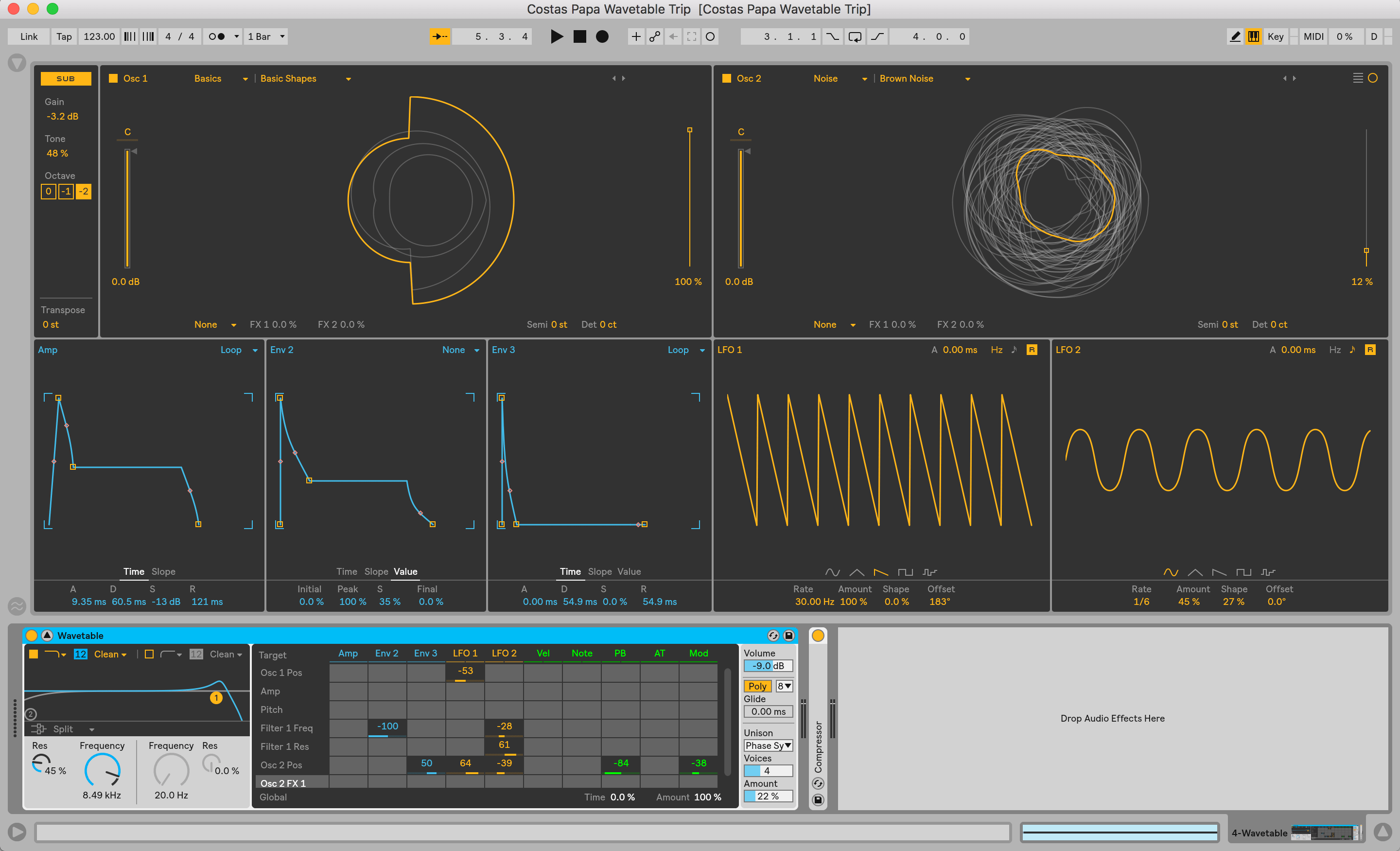Ableton Live WaveTable Synthesizer